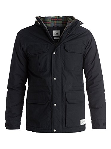 Quiksilver Men's Long Bay Jacket, Anthracite, Medium by Quiksilver
