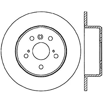 StopTech 127.44084L Sport Drilled//Slotted Brake Rotor 1 Pack Rear Left