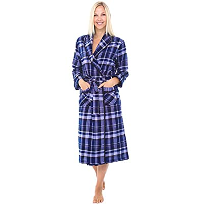 Alexander Del Rossa Womens Flannel Robe ed1fe16be