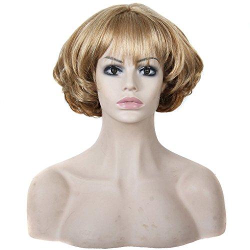 """Quibine 11"""" Perruque Coiffure Cheveau Blonde Resistance aux Hautes Temperatures Synthetique"""