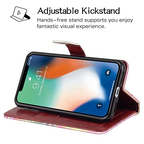 Sakuulo Flip Wallet Case for iPhone Xs iPhone X PU Leather Case with Multi Credit Card Holders ID Sl - http://coolthings.us