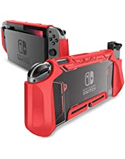 Dockable Case for Nintendo Switch, Mumba [Blade Series] TPU Grip Protective Cover Case Compatible with Nintendo Switch Console and Joy-Con Controller