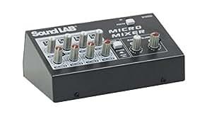 SoundLab 4 Channel Stereo Microphone Mixer, [Importado de Reino Unido]