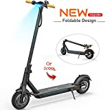 TOMOLOO Electric Scooter with Foldable Design, 18.6 Miles Long-Range, Up to 15.5 MPH, Commuting Scooter, Foldable and Portable E-Scooter with 8.5' Air Filled Tires, Cruise Control