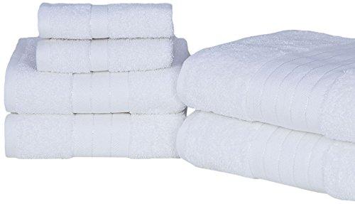 cotone 485 g//m/² Dreamscene-Set di asciugamani confezione da 6 colore: argento