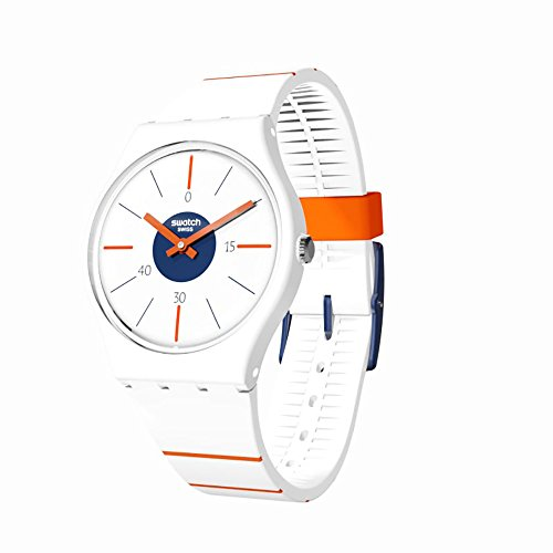 Swatch Originals Belle De Set White Dial Silicone Strap Unisex Watch GZ318