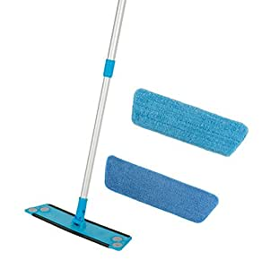 Simplee Cleen Microfiber Swivel Household Mop Kit with Two Pads