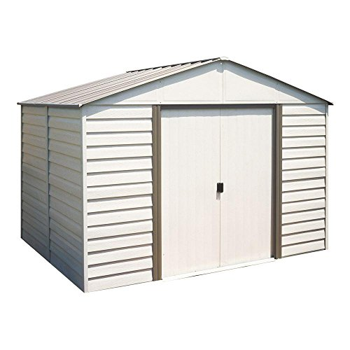 Arrow Milford 10 ft. x 12 ft. Vinyl-Coated Steel Storage Shed with Floor Kit (Vinyl Shed Coated)