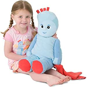 In the night garden Iggle Piggle - Muñeco de peluche para guardar pijamas o bolsas de agua caliente, color azul