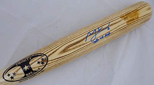 Ben Zobrist Autographed Signed Memorabilia Blonde Trinity Game Model Bat Chicago Cubs 2016 Ws Mvp - Beckett ()