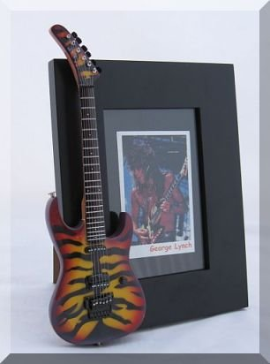GEORGE LYNCH Miniature Guitar Photo Frame Tiger Sunburst Dokken