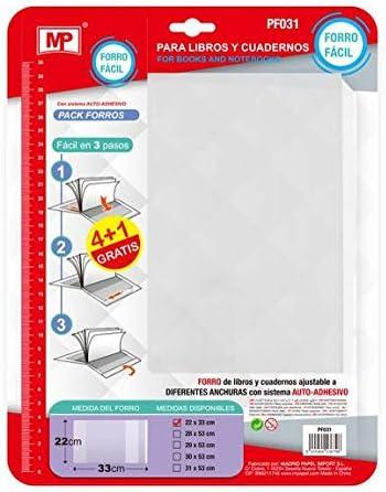 MPM Pack de 5 Forros para Libros (22 X 33 CM (A5)): Amazon.es ...