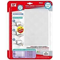 Landre 100420091 transparente Lote de fundas para cuaderno DIN A5, flexible, 25 unidades