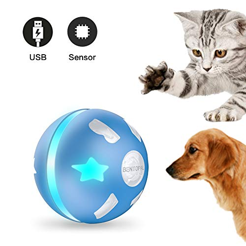 PetDroid Interactive Cat/Dog Toys Ball,Motion Activated Automatic Rolling Ball Toys for Cats/Kitten,USB Rechargeable…