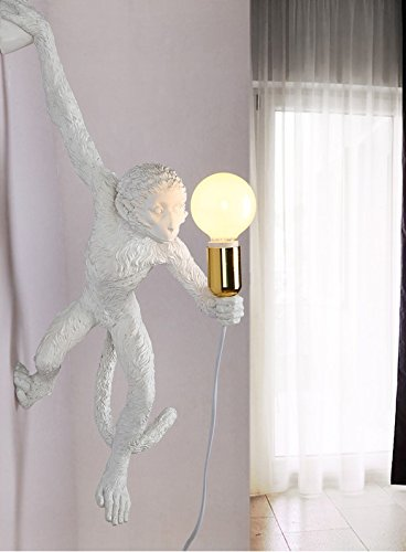 LINA-Industrial Retro Vintage style Farmhouse Industry Steam Punk Water Pipe Wall Sconce wall light lamp Monkey resin Wall lamp (560150130mm) by LINA chandelier (Image #2)