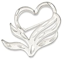 IceCarats 925 Sterling Silver Finish Heart Pin
