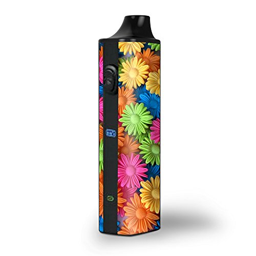 Skin Decal Vinyl Wrap for Pulsar APX Vape Dry Herb Vape Kit skins stickers cover/Colorful Wax Daisies Flowers