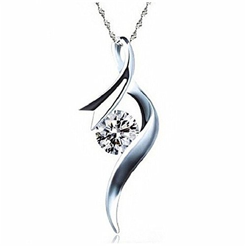 Price comparison product image Sterling Silver Love Cubic Zirconia Pendant Necklace