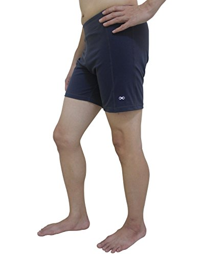 YogaAddict Men Yoga Stretchable Short Pant, Ideal for Any Yoga Style and Pilates, Premium Quality, Grey – Size L Review