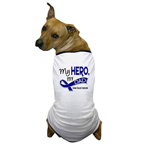 CafePress - My Hero Colon Cancer Dog T-Shirt - Dog T-Shirt, Pet Clothing, Funny Dog Costume