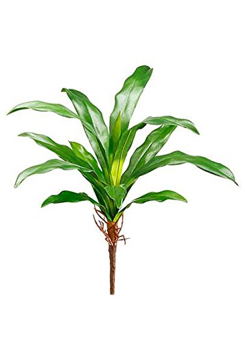 Floral Home Plastic Tropical Bromeliad Leaf Plant - 11