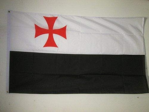 Drapeau des Templiers 60 x 90 cm Drapeaux AZ FLAG Drapeau Ordre du Temple Croisades 90x60cm