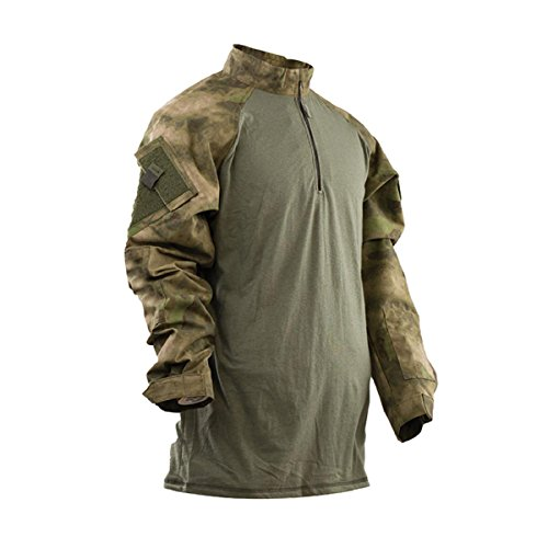 Tru-Spec 2575026 Mens TRU 1/4 Zip Combat Shirt, A-TACS FG - XLL by Tru-Spec