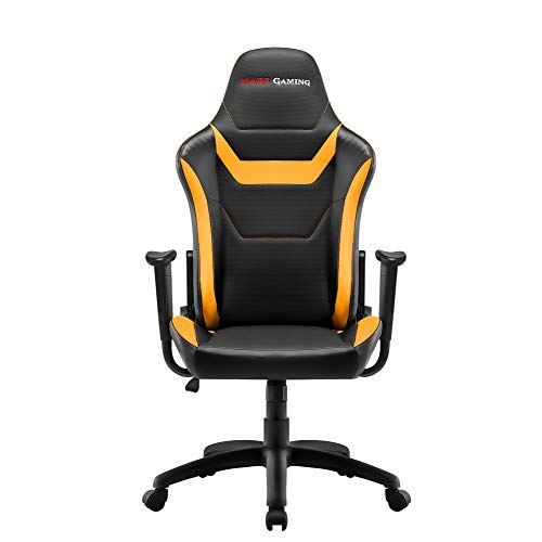 Mars Gaming MGC218 - Silla profesional, tecnología AIR, reclinable 180°, amarillo