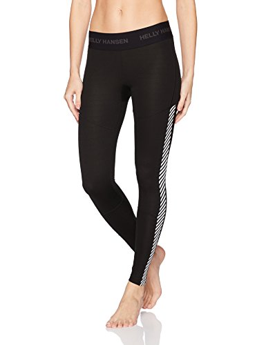 Helly Hansen Women's Lifa Baselayer Pants, Black, Small (Helly Underwear Hansen Long)
