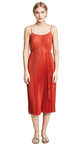 Dress Pleated Vince (Vince Women's Pleated Cami Dress, Paprika, X-Small)