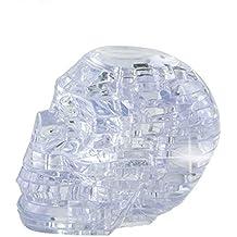 Fiaya 3D Skull Clear Crystal Puzzle Model DIY Gadget Building Blocks Toy Hot