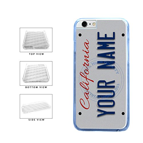 BleuReign(TM) Personalized Custom Name California State License Plate Clear Sides Plastic Phone Case Back Cover For Apple iPhone 6 Plus and iPhone 6s Plus (5.5 Inches Screen) -