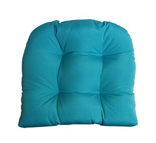 (Sunbrella Canvas Aruba Lg Wicker Chair Cushion - Indoor / Outdoor 1 Tufted Wicker Chair Seat)