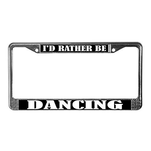license plate frame dancer - 4