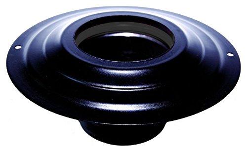 tube Noir Rosace avec douille dn 80mm diamètre externe 230mm CE fabriqué en Italie MBM en acier inoxydable verni noir pour poêle à pellets ou bois