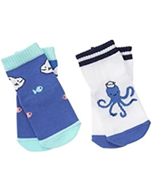 Baby Tidal Blue Sea Life Socks Two-Pack by Gymboree
