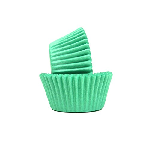 Regency Wraps Greaseproof Baking Cups,Standard, Teal Green,