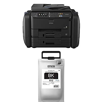 Epson WorkForce Pro WF-R4640 EcoTank Wireless Color All-in-One Supertank Printer with Fax with Ink Bundle