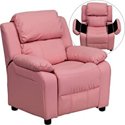 Kids Sofa Recliner Chair with Storage Arms