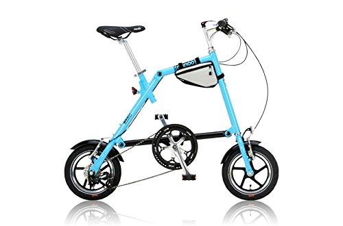 NANOO(ナノー) 折りたたみ自転車 12インチ アルミ製 シマノ7段変速 専用輸行バッグ/トライフレームバッグ付属 B00HY6CMKE ブルー ブルー