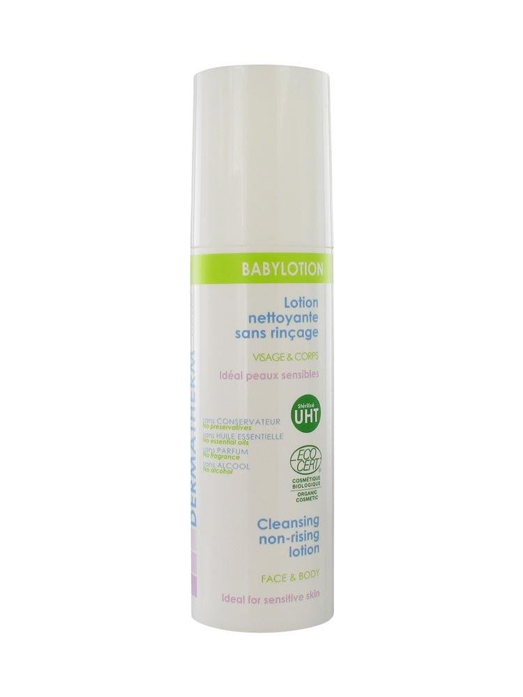 BABYLOTION Revolutionary Patented Formula -Certified Organic Cleansing Non-Rinsing Lotion. Removes Impurities and Calms Irritations. Made with Healing Thermal Water.Made in France 150ml/5fl oz Dermatherm Laboratories France