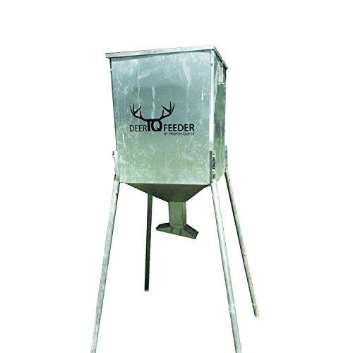 Cheapest Price! Deer Feeder 225lb Capacity Rust-Proof Steel TQ225 Gravity Game Feeder