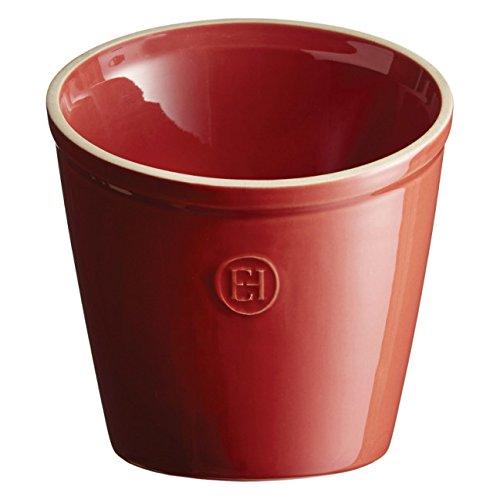 Emile Henry Made In France Utensil Pot/Utensil Holder, Burgundy Red