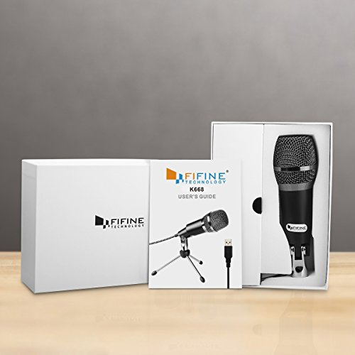 FIFINE TECHNOLOGY USB Microphone,Fifine Plug &Play Home Studio USB Condenser Microphone for Skype, Recordings for YouTube, Google Voice Search, Games(Windows/Mac)-K668 by FIFINE TECHNOLOGY (Image #5)'