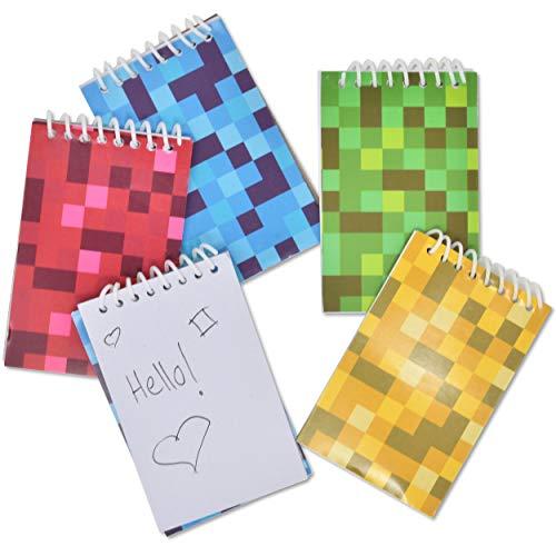48 Mini Pixel Notepads Digi Party Supplies Favors
