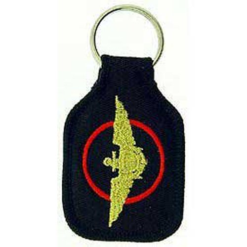 Embroidered Emblem Key Chain - United States US Navy & Marine Aviation - Navy & Marine Corps Wings Logo (Navy Wings Emblem)