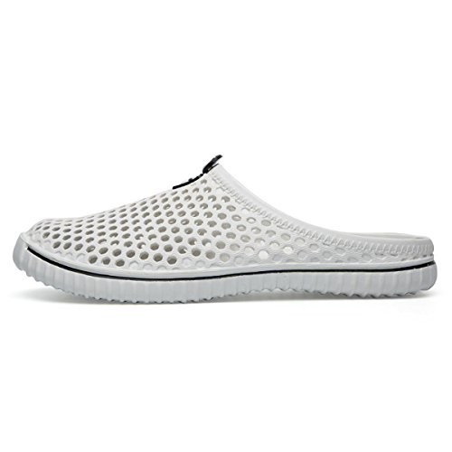 White Men Women BADIER Walking Shoe Slippers Clog Mesh Garden Beach zHw7dnCqwx
