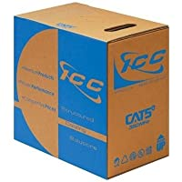 ICC Cat5e 350MHz UTP Solid Cable Plenum; 24AWG 4 Pair CMP 1000ft Blue / ICCABP5EBL /