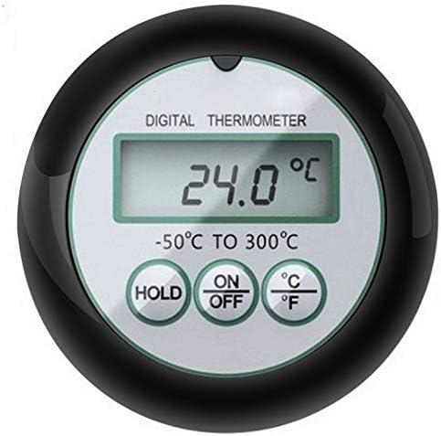 Jwkcm Digitale Barbecue Thermometer, Sonde Küche Ofen Lebensmittel Kochen Barbecue Grill-Thermometer mit Sonde Timer-Temperatur-Alarm
