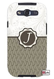 Cool Painting Monogram Initial Letter J Unique Quality Soft Rubber Case for Samsung Galaxy S4 I9500 - White Case